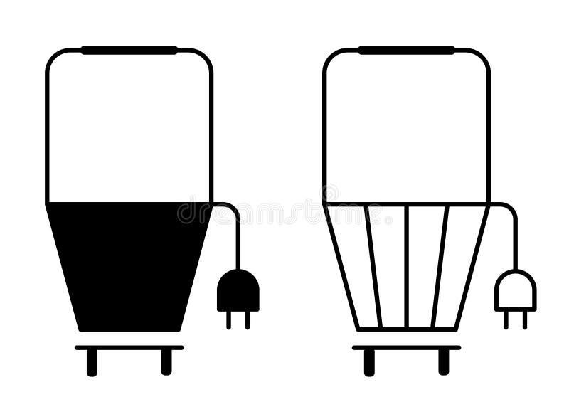 Shoping篮子黑色白色电子 库存例证