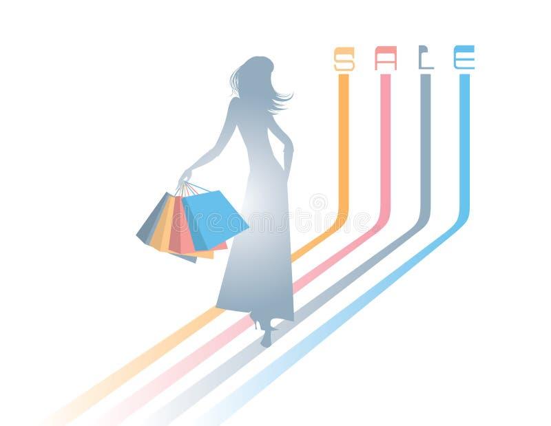 shoping vektor illustrationer