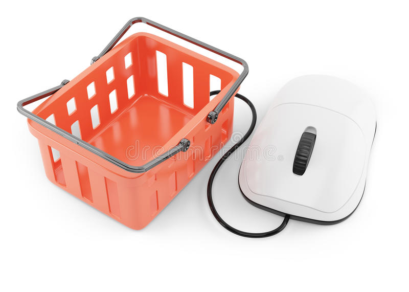 Download Shoping Basket And Computer Mouse Royalty Free Stock Photos - Image: 33313938