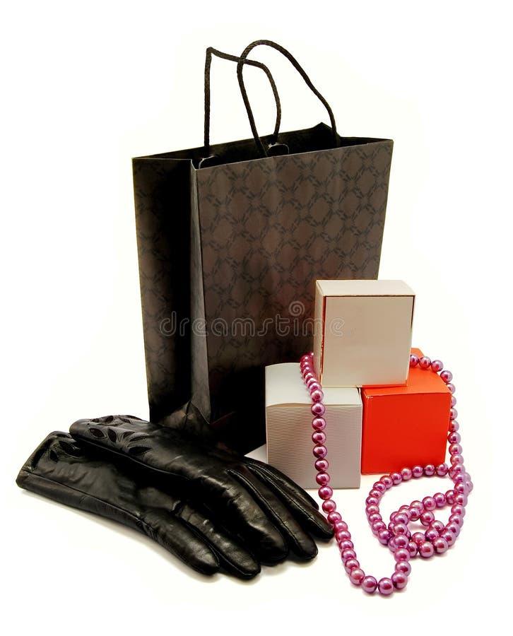 Shoping felice fotografie stock libere da diritti