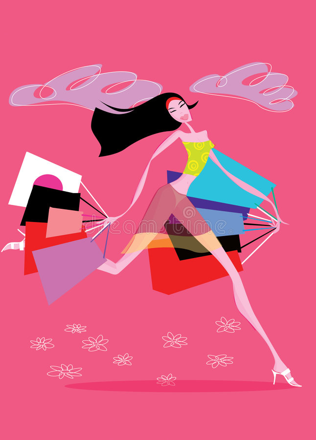 shoping kobiety royalty ilustracja