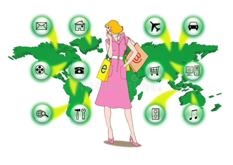 Shoping online stock abbildung