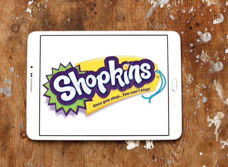 Shopkins märkeslogo arkivbild