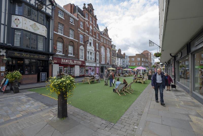 Shoplatch zwyczajny teren w Shrewsbury zdjęcie stock