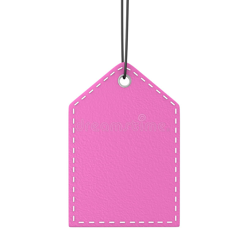 Shopmark cor-de-rosa ilustração stock