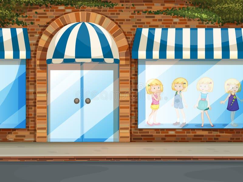 shoppa stock illustrationer
