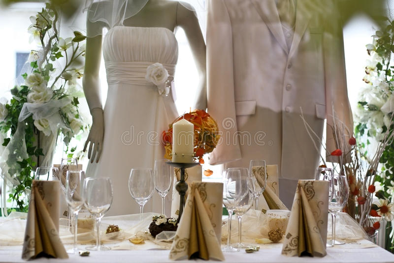 shoppa bröllop royaltyfria foton