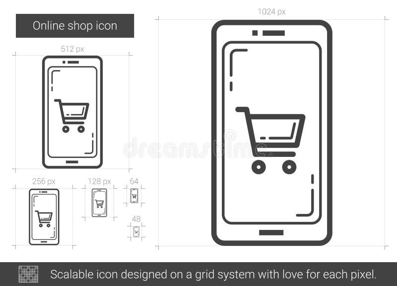 Shoppa direktanslutet linjen symbol vektor illustrationer