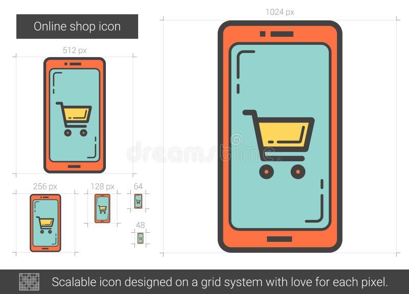 Shoppa direktanslutet linjen symbol stock illustrationer