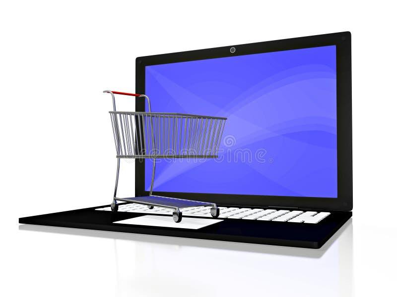 shoppa för dator som är ditt royaltyfri illustrationer