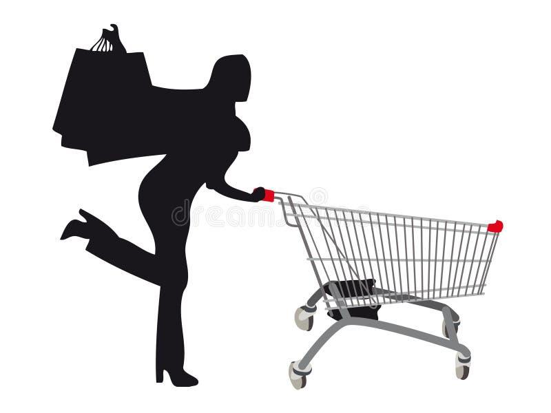 shoppa för försäljningar stock illustrationer