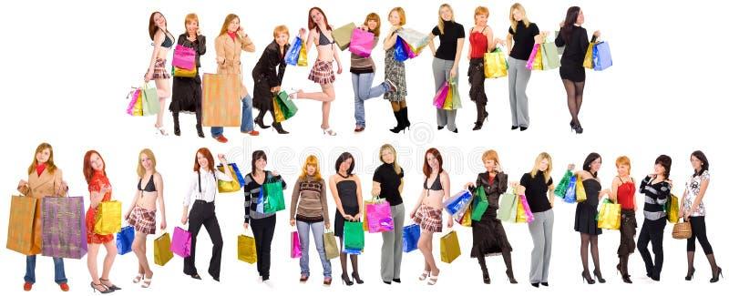 shoppa för folkmassor royaltyfria bilder