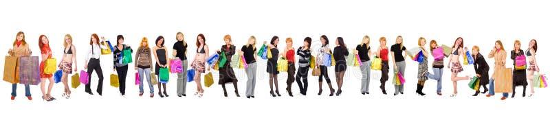 shoppa för folkmassor royaltyfri fotografi