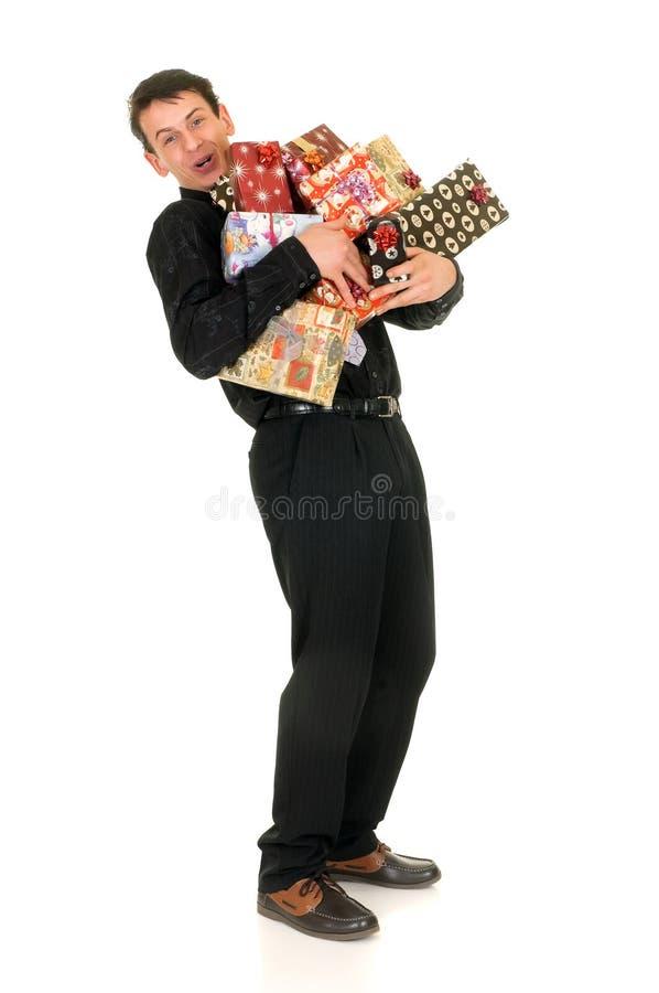shoppa för jul arkivfoto