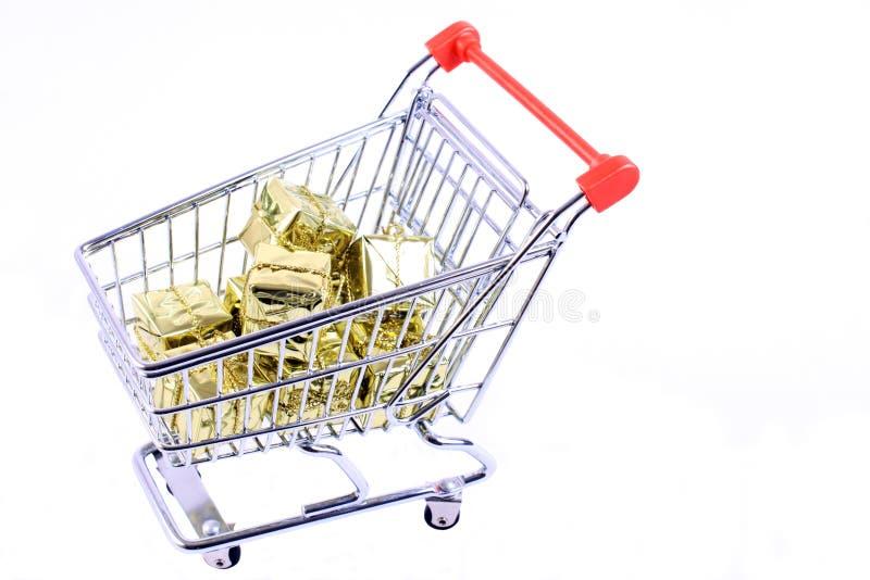 shoppa för julgåvor royaltyfri bild