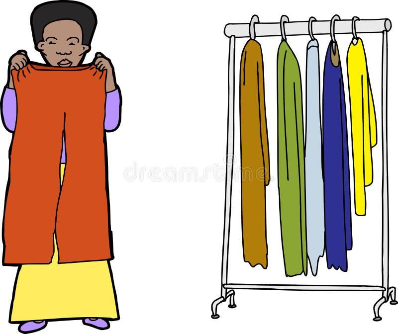 shoppa för kläder royaltyfri illustrationer