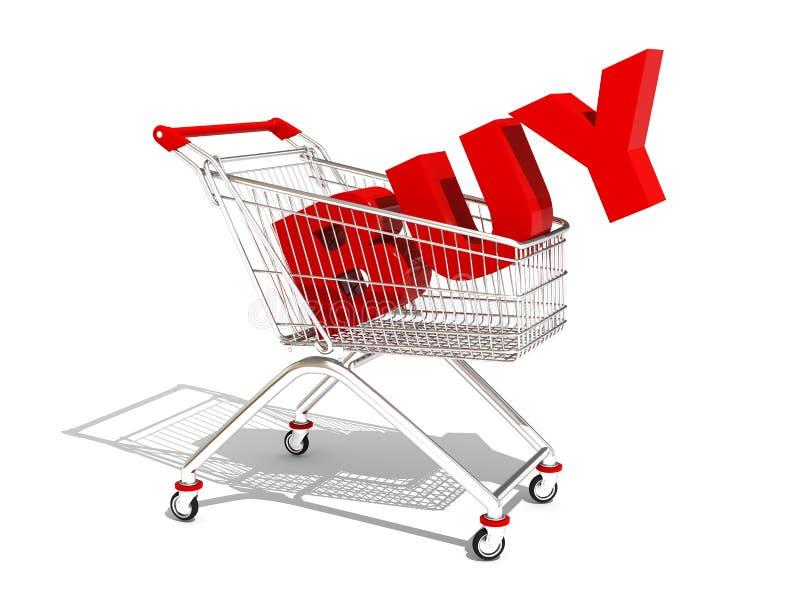 shoppa för vagnar vektor illustrationer
