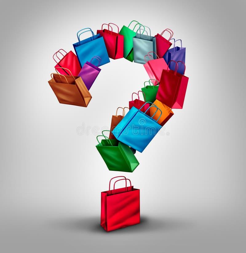 Shoppa fråga royaltyfri illustrationer
