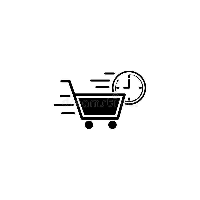shoppa hastighetssymbolen Beståndsdel av hastighetssymbolen för mobila begrepps- och rengöringsdukapps Den detaljerade shoppingha vektor illustrationer