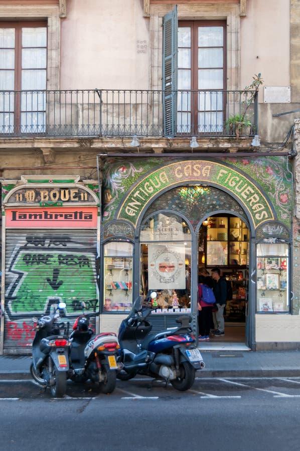 Shoppa i Barcelona royaltyfri foto