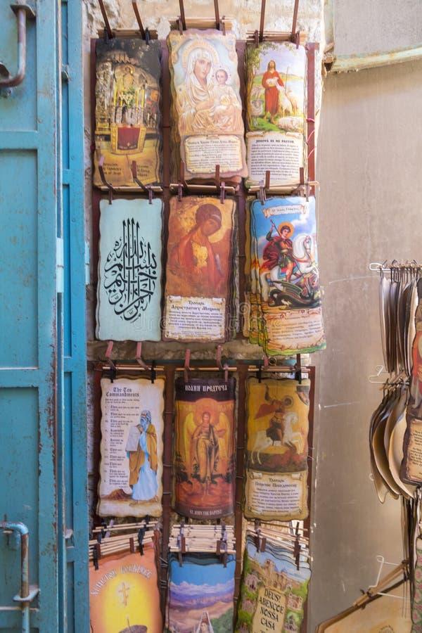Shoppa i den gamla staden av Jerusalem royaltyfri bild
