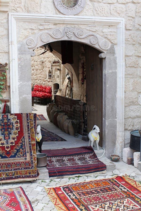 Shoppa i Goreme, Cappadocia arkivbilder