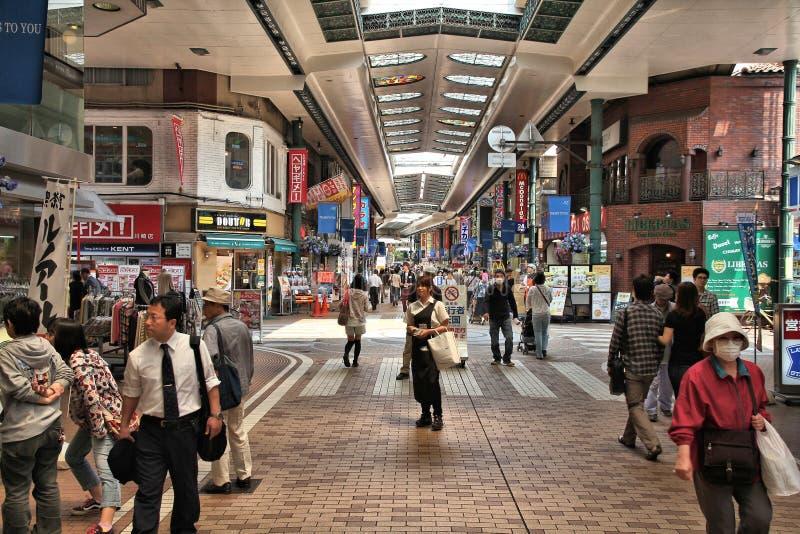 Shoppa i Kawasaki, Japan royaltyfri foto