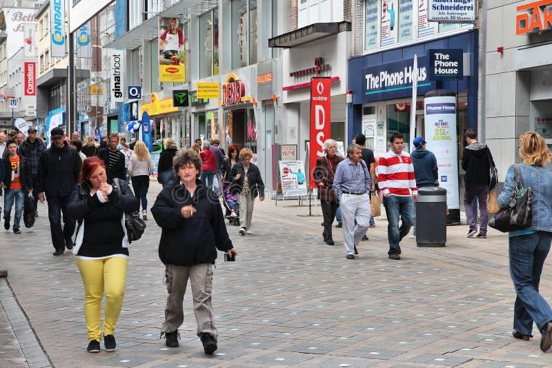 Shoppa i Tyskland royaltyfri fotografi