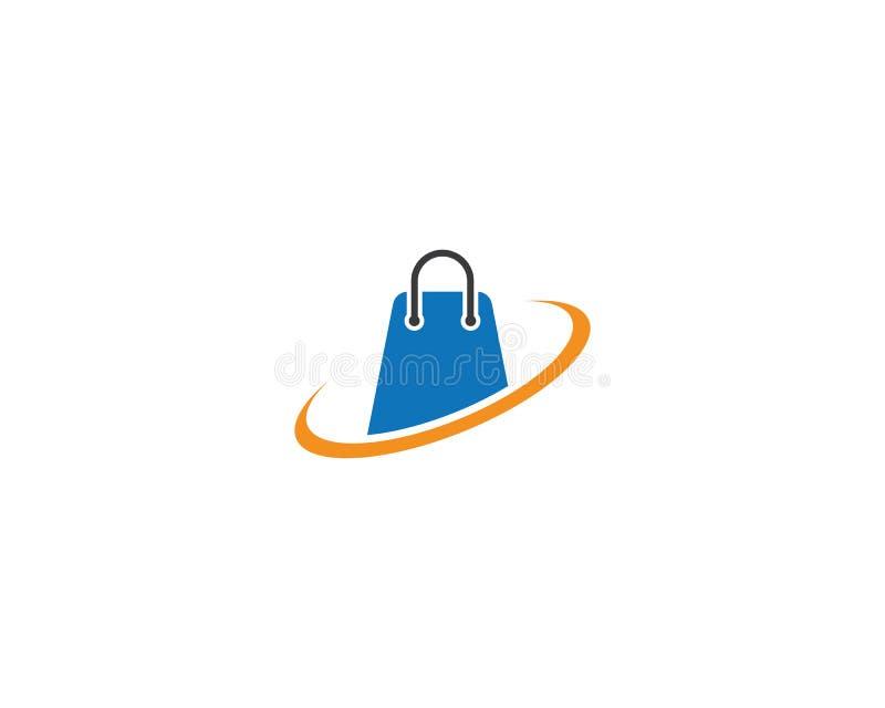 Shoppa logomallen royaltyfri illustrationer