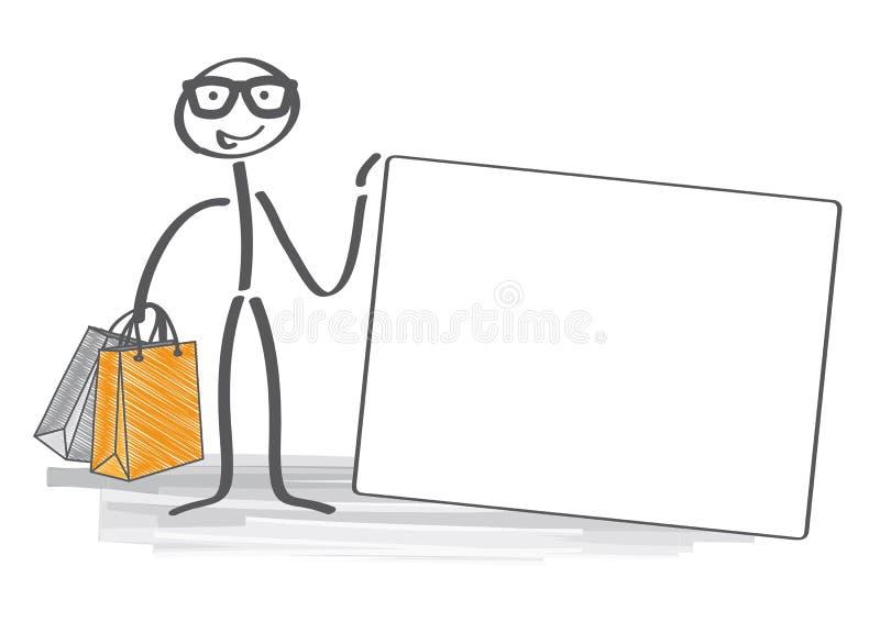 Shoppa med en kreditkort vektor illustrationer