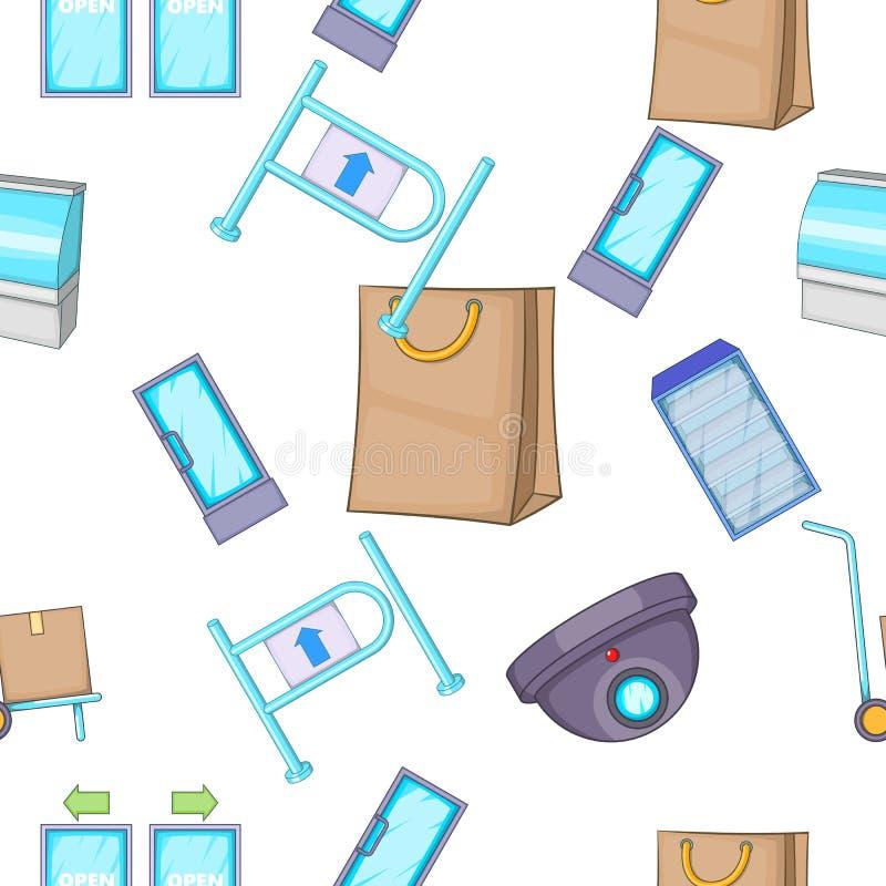 Shoppa modellen, tecknad filmstil vektor illustrationer