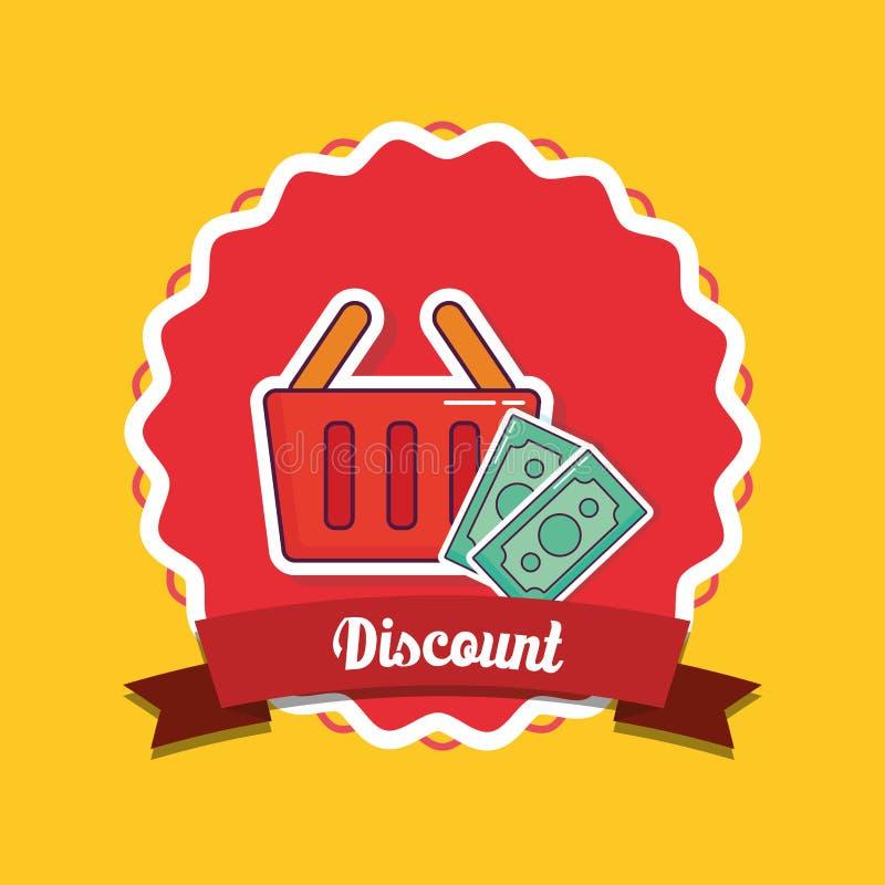 Shoppa och rabattdesign stock illustrationer