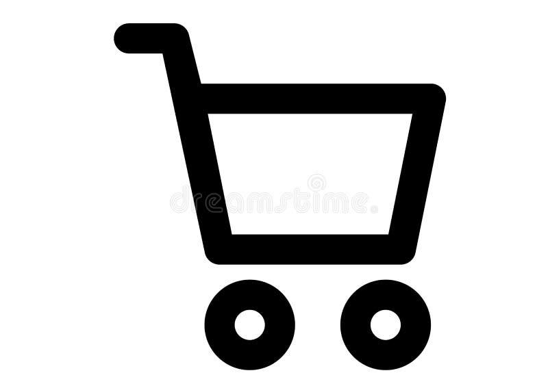 Shoppa online-logoen royaltyfri bild