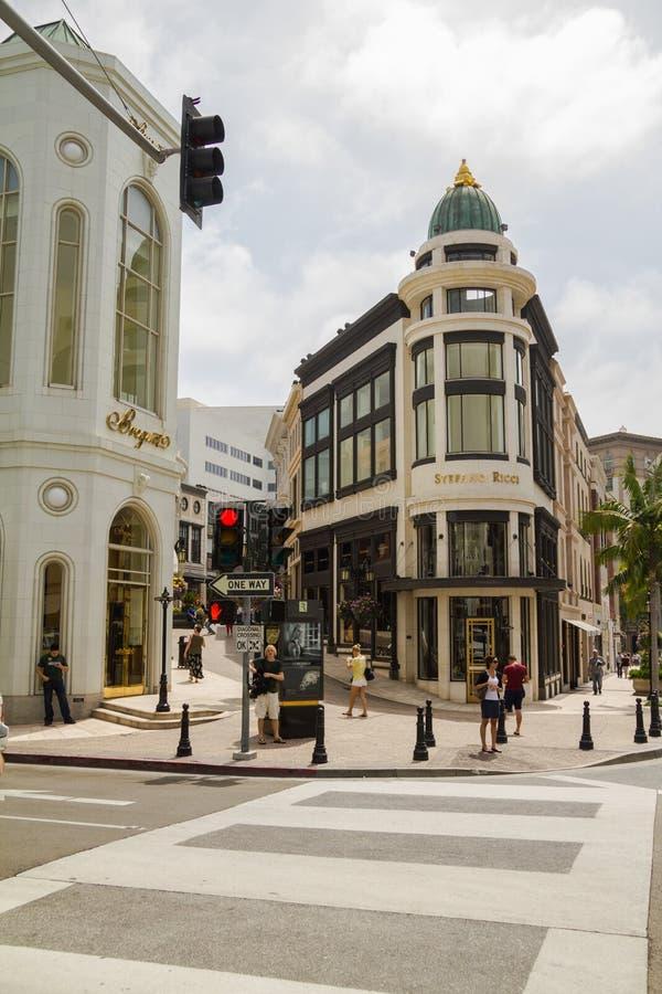 Shoppa på berömt rodeodrev, Beverly Hills fotografering för bildbyråer