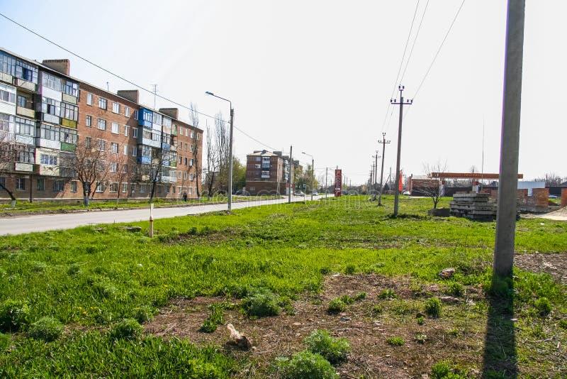 Shoppa `-Pyaterochka ` längs den Kovalev gatan i staden av Gukovo royaltyfria foton
