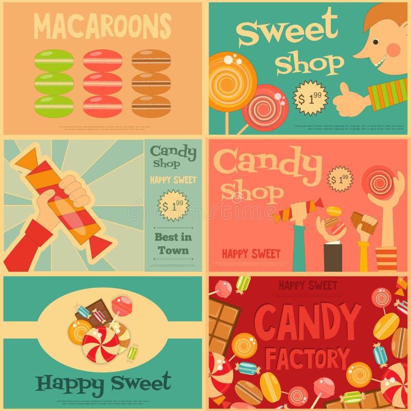 shoppa sött vektor illustrationer