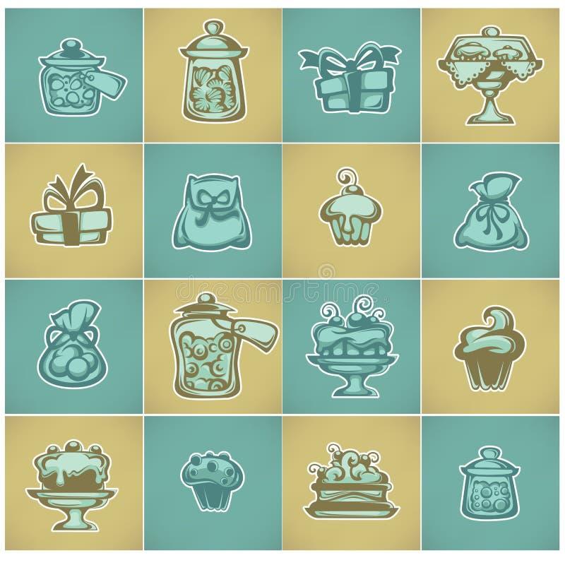 shoppa sött stock illustrationer