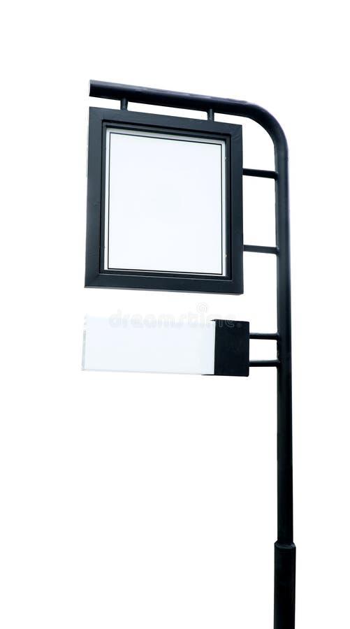 Shoppa signagen som göras med isolerat svart stål på vit bakgrund, arkivfoto