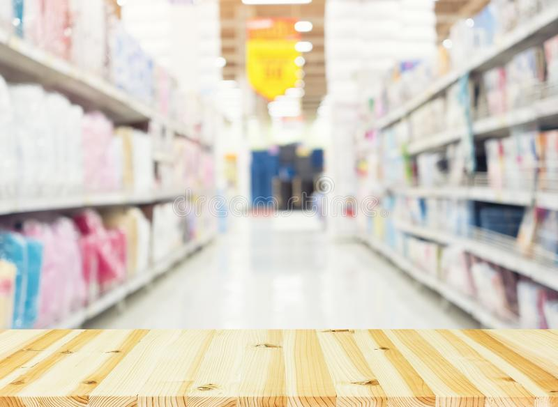 Shoppa suddig bakgrund arkivfoto