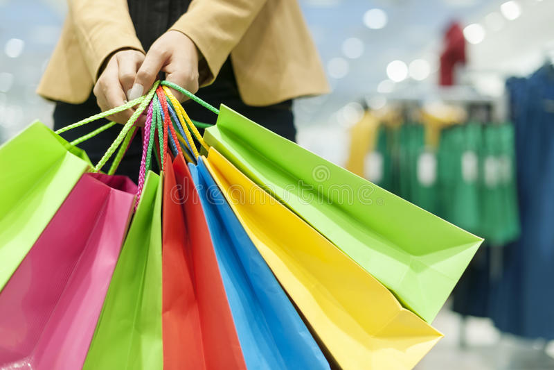Shoppa tid royaltyfri fotografi