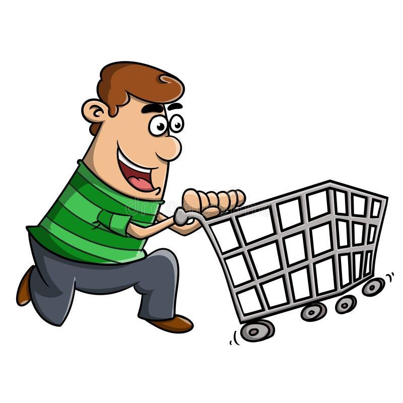 Shoppa till marknaden stock illustrationer