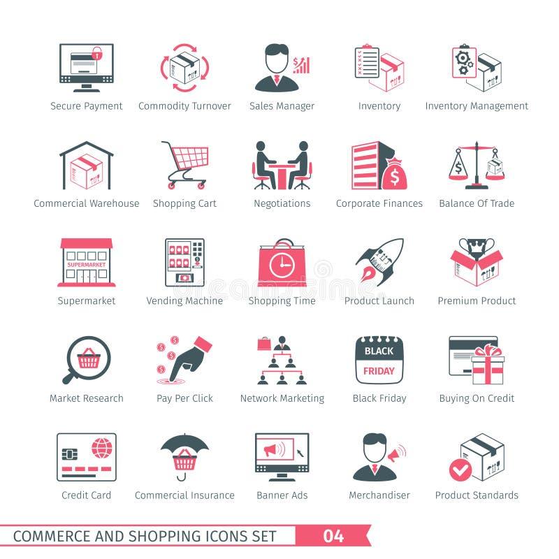Shoppa uppsättning 04 vektor illustrationer