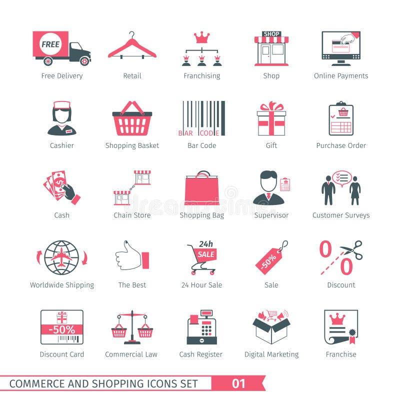 Shoppa uppsättning 01 vektor illustrationer
