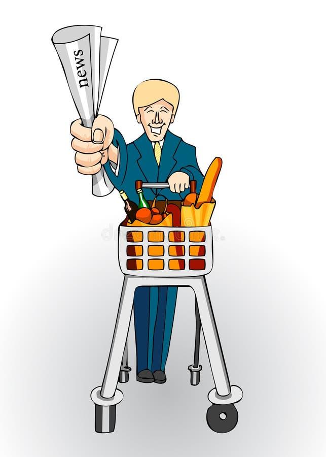 shoppare stock illustrationer