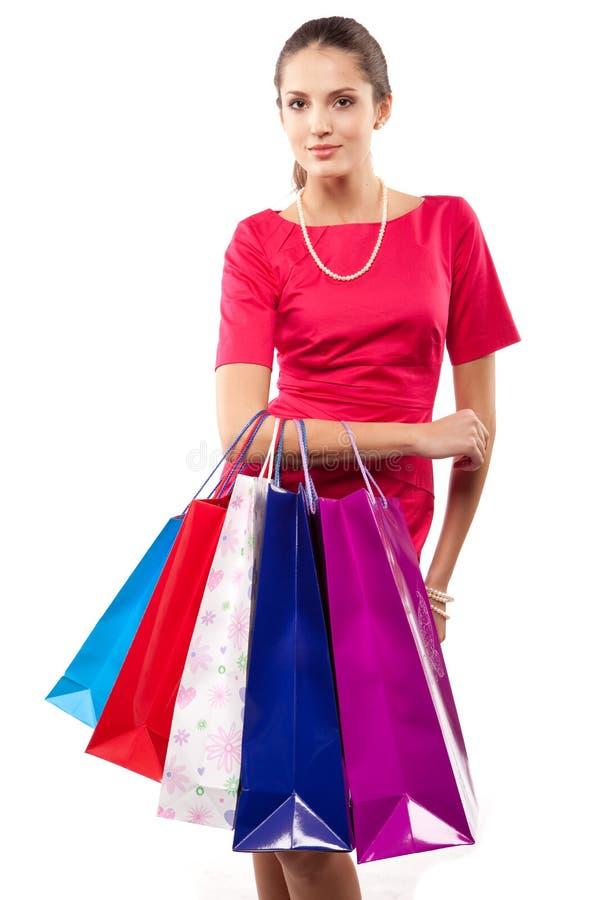 shopparekvinna royaltyfri fotografi