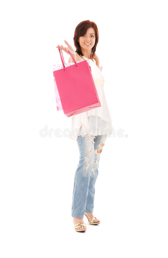 Download Shopper stock photo. Image of holding, joyful, bags, fashion - 10269490