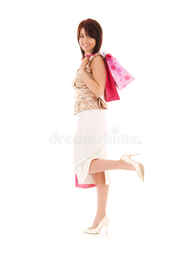 Download Shopper stock photo. Image of enjoying, bags, customer - 10320338