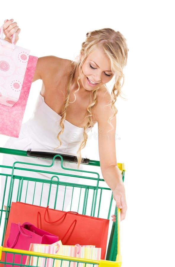 Download Shopper stock photo. Image of lovely, basket, dress, joyful - 12337620