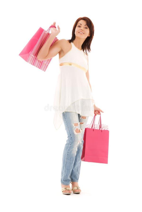 Download Shopper stock photo. Image of joyful, isolated, bags - 41477032