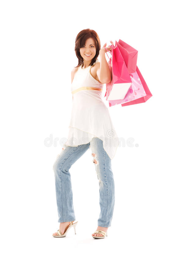 Download Shopper stock image. Image of buyer, bags, attractive - 42146899